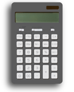 A grey calculator